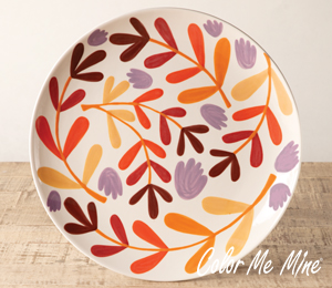 Airdrie Fall Floral Charger