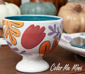 Airdrie Floral Pedestal Bowl