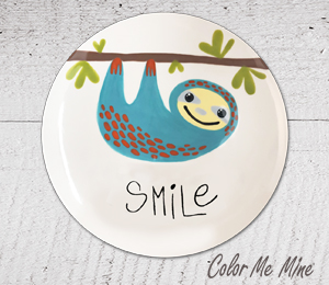 Airdrie Sloth Smile Plate