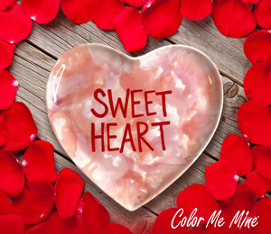 Airdrie Candy Heart Plate
