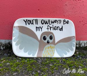 Airdrie Owl Plate